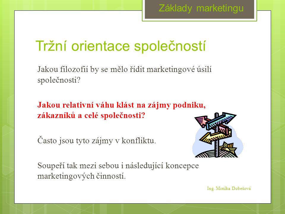 Tržní orientace společností Jakou filozofií by se mělo řídit marketingové úsilí společnosti.