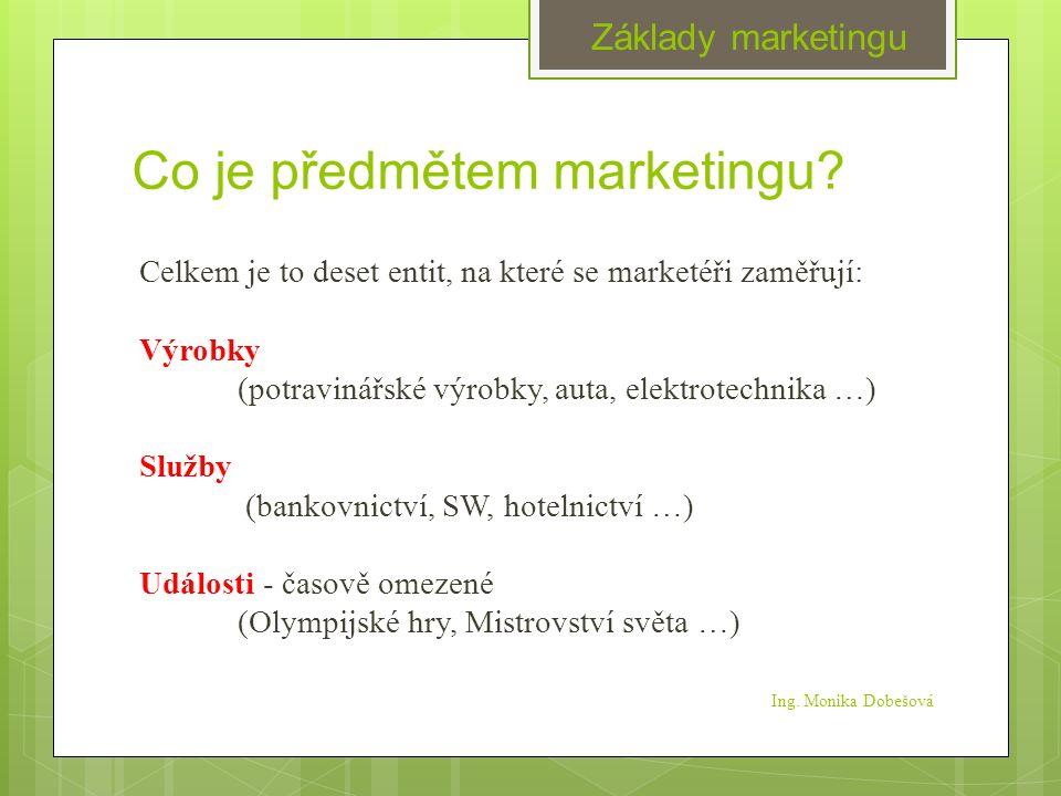 Co je předmětem marketingu.