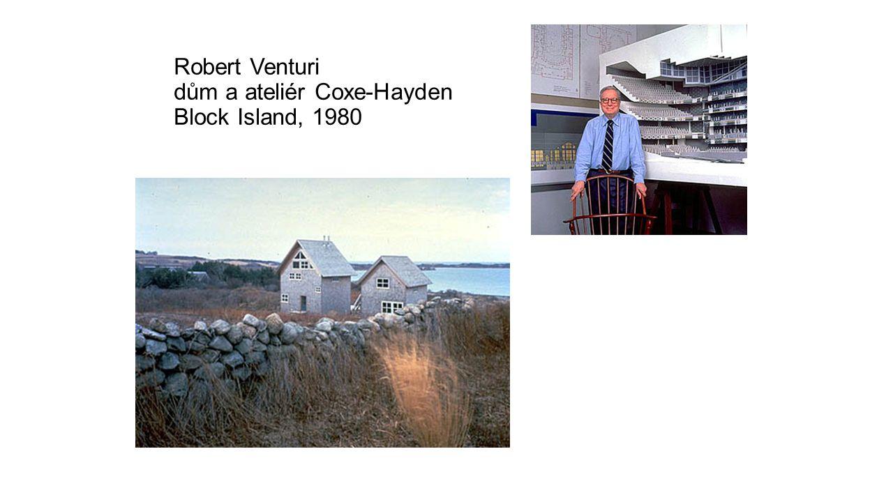 Robert Venturi dům a ateliér Coxe-Hayden Block Island, 1980