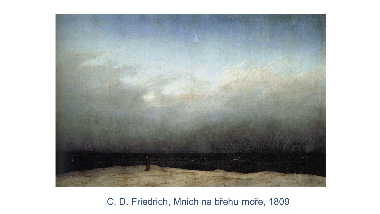 C. D. Friedrich, Mnich na břehu moře, 1809