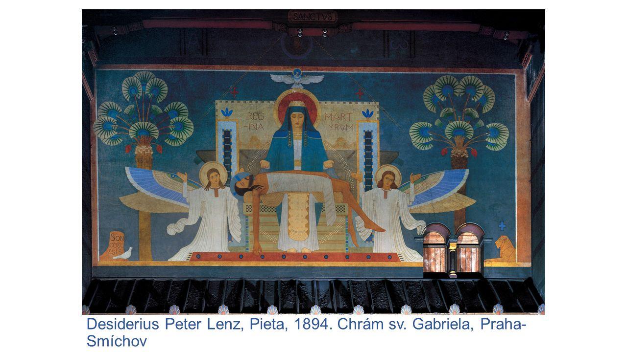 Desiderius Peter Lenz, Pieta, 1894. Chrám sv. Gabriela, Praha- Smíchov