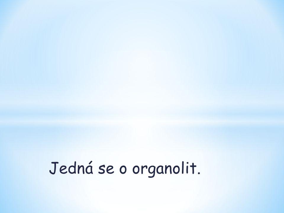 Jedná se o organolit.