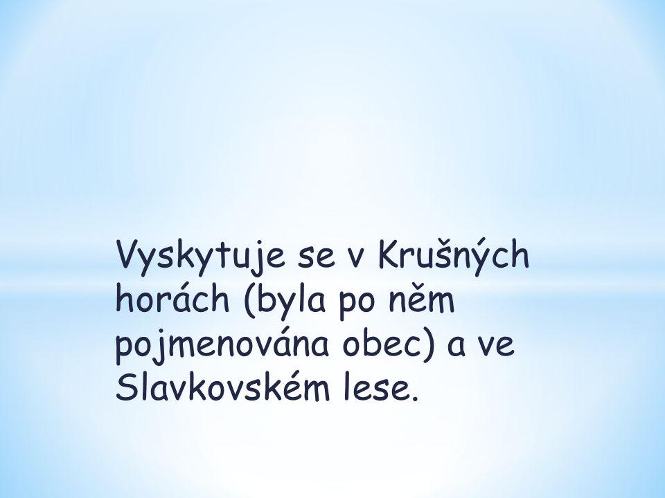 Vyskytuje se v Krušných horách (byla po něm pojmenována obec) a ve Slavkovském lese.