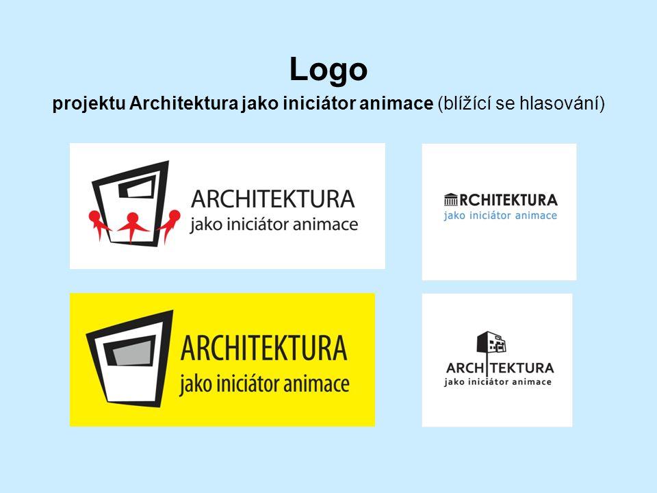 Logo projektu Architektura jako iniciátor animace (blížící se hlasování)