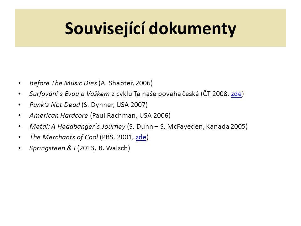 Související dokumenty Before The Music Dies (A.