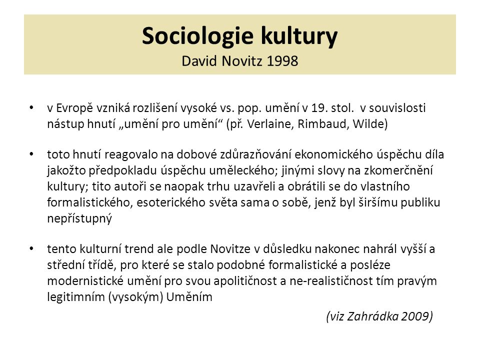 Použitá literatura ALAN, J.(ed.): Alternativní kultura.