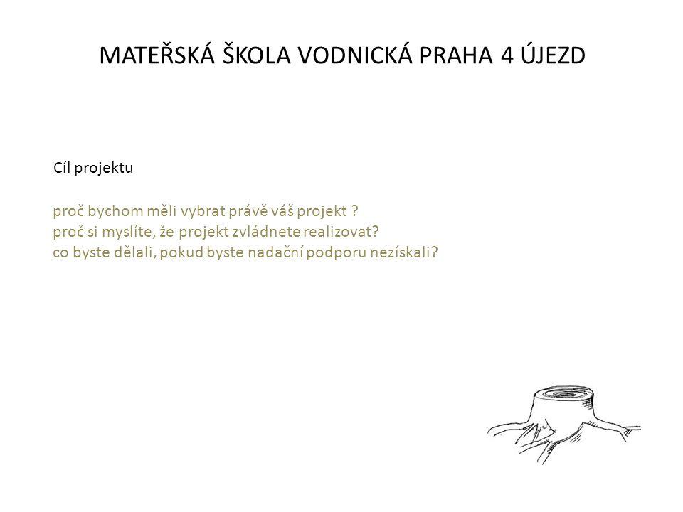 MATEŘSKÁ ŠKOLA VODNICKÁ PRAHA 4 ÚJEZD proč bychom měli vybrat právě váš projekt .