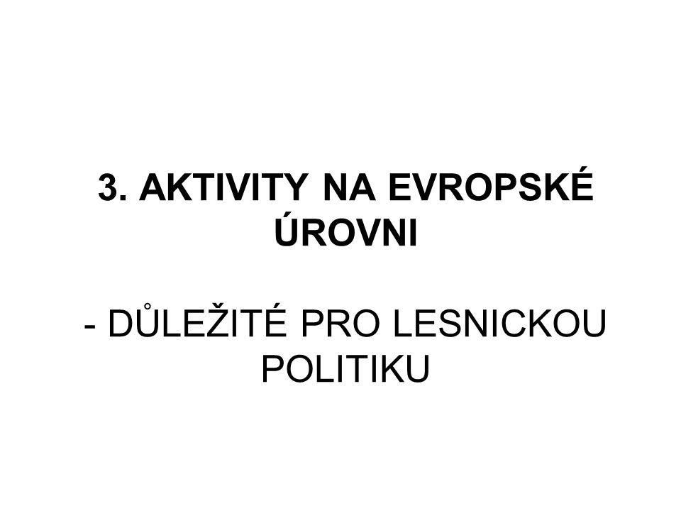 3. AKTIVITY NA EVROPSKÉ ÚROVNI - DŮLEŽITÉ PRO LESNICKOU POLITIKU