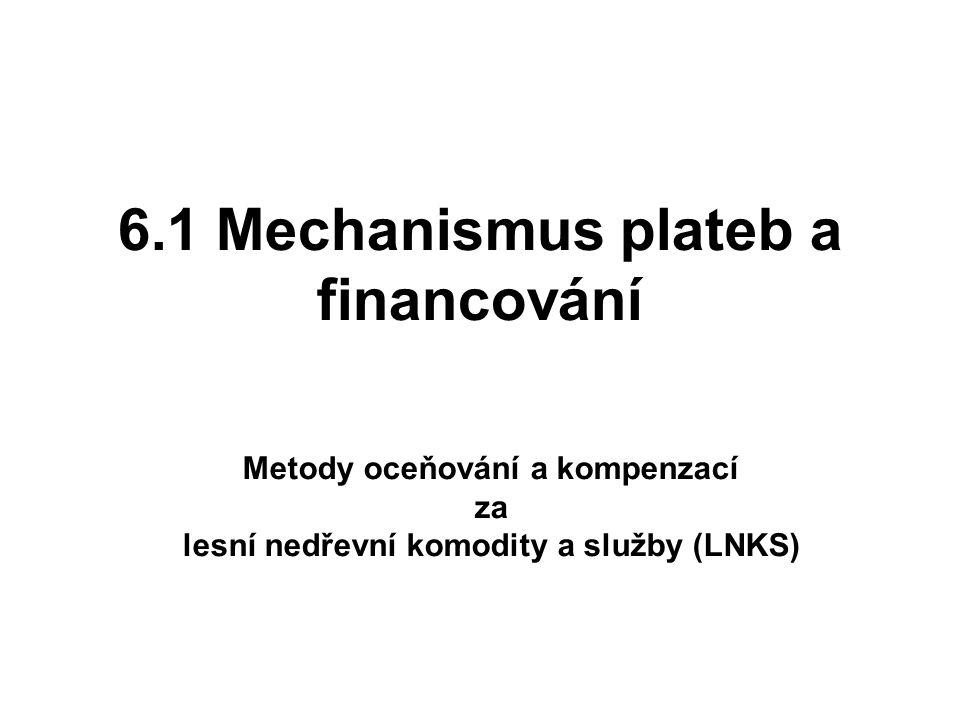 6.1 Mechanismus plateb a financování Metody oceňování a kompenzací za lesní nedřevní komodity a služby (LNKS)