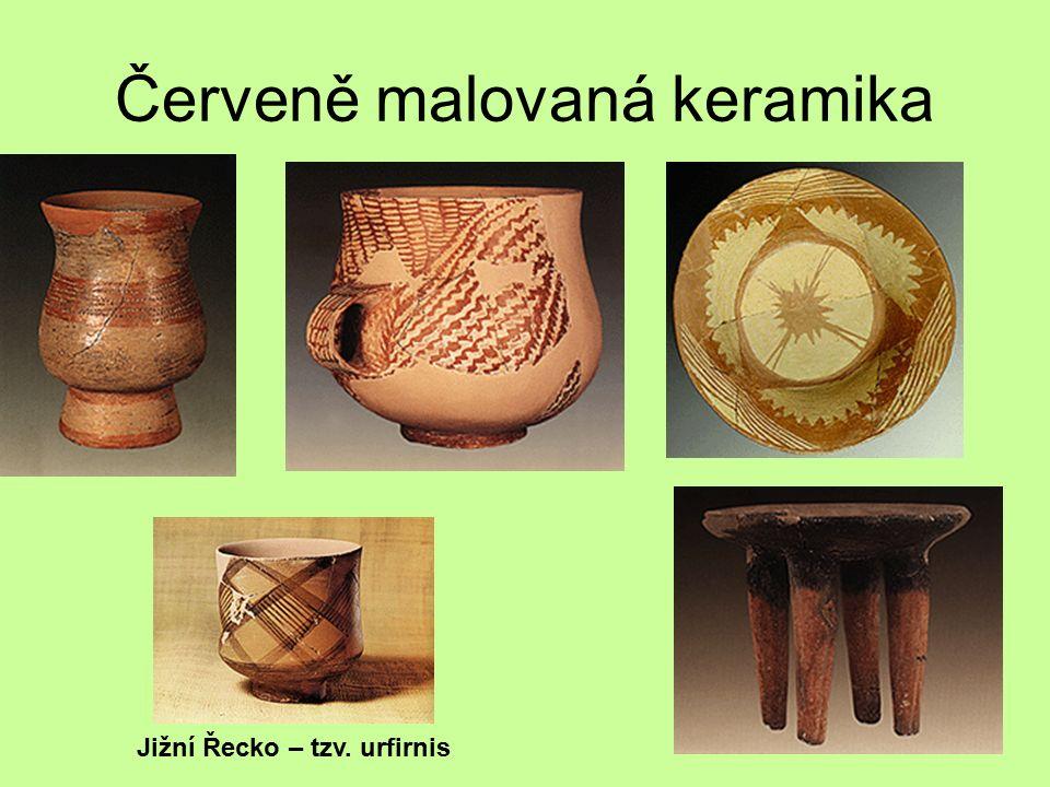 Červeně malovaná keramika Jižní Řecko – tzv. urfirnis