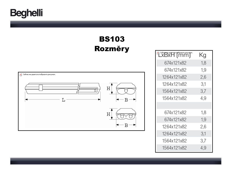 BS103 Rozměry