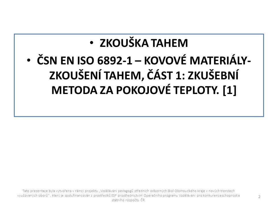 """Rp02 smluvní mez kluzu Tato prezentace byla vytvořena v rámci projektu """"Vzdělávání pedagogů středních odborných škol Olomouckého kraje v nových trendech vyučovaných oborů , který je spolufinancován z prostředků ESF prostřednictvím Operačního programu Vzdělávání pro konkurenceschopnost a státního rozpočtu ČR."""