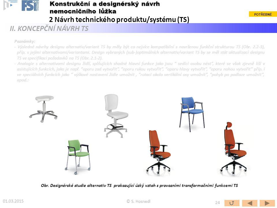 Poznámky: - Výsledné návrhy designu alternativ/variant TS by měly být co nejvíce kompatibilní s navrženou funkční strukturou TS (Obr. 2.2-3), příp. s