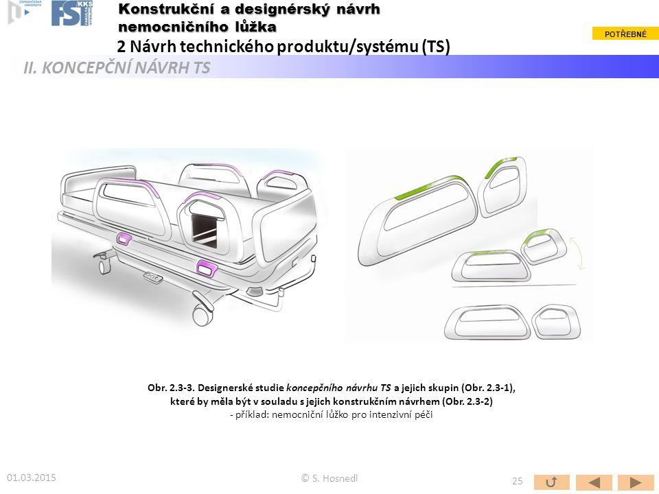 Obr. 2.3-3. Designerské studie koncepčního návrhu TS a jejich skupin (Obr. 2.3-1), které by měla být v souladu s jejich konstrukčním návrhem (Obr. 2.3