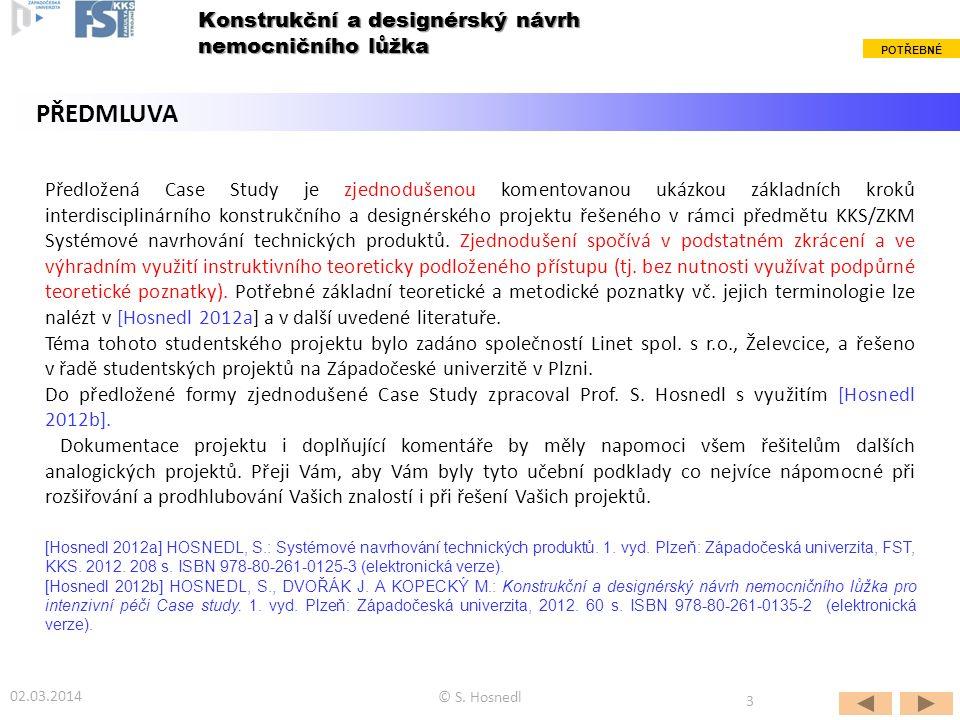 Předložená Case Study je zjednodušenou komentovanou ukázkou základních kroků interdisciplinárního konstrukčního a designérského projektu řešeného v rá