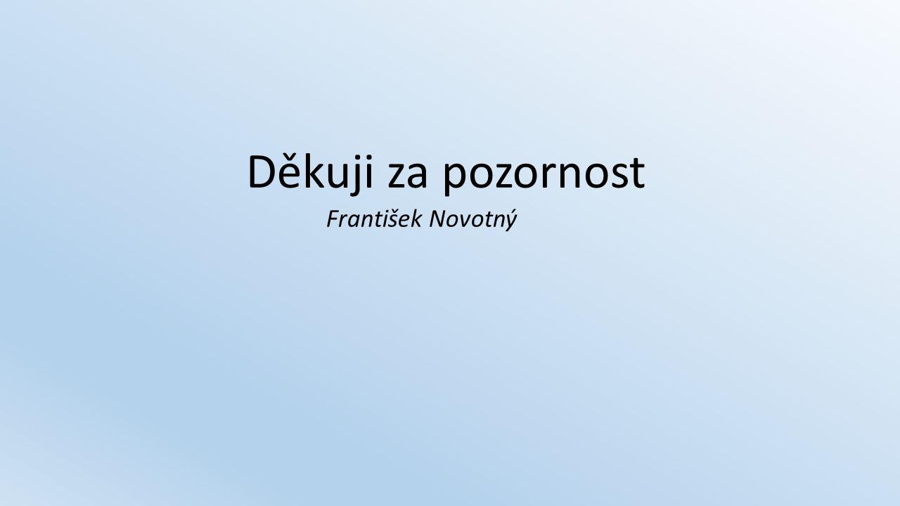 Děkuji za pozornost František Novotný