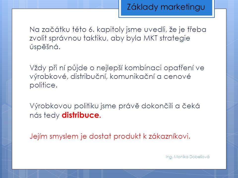 Ing. Monika Dobešová Na začátku této 6.