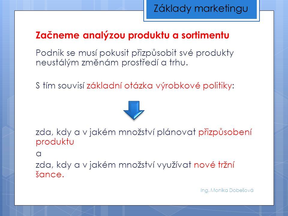 Ing.Monika Dobešová Nejprve provedeme systematickou analýzu našich produktů.