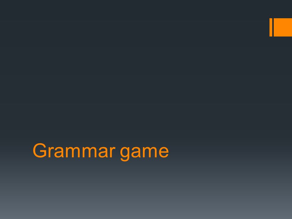 Grammar game