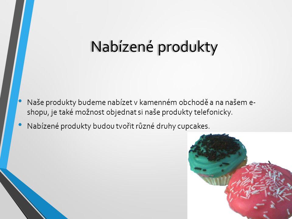 Nabízené produkty Naše produkty budeme nabízet v kamenném obchodě a na našem e- shopu, je také možnost objednat si naše produkty telefonicky. Nabízené