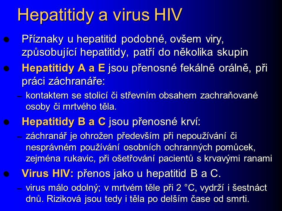 Hepatitidy a virus HIV Příznaky u hepatitid podobné, ovšem viry, způsobující hepatitidy, patří do několika skupin Příznaky u hepatitid podobné, ovšem