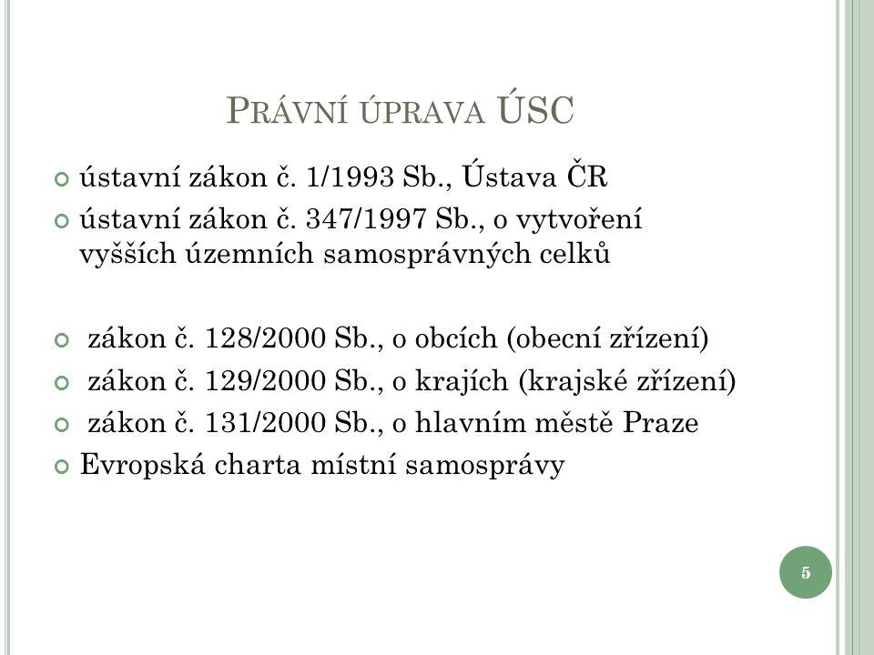 K RAJSKÁ SOUSTAVA V ČR V České republice je celkem 13 krajů + hl.