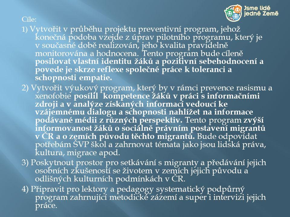 """ V letech 2009-2011 byl projekt """"Jsme lidé jedné Země pilotně ověřován na následujících školách:   ZŠ Mozartova, Jablonec nad Nisou – Mšeno www.6zs-jablonec.czwww.6zs-jablonec.cz  ZŠ Mnichovo Hradiště, Švermova 380, 295 01 www.3zsmh.czwww.3zsmh.cz  ZŠ a MŠ Mladá Boleslav, Václavkova 1040, 293 01 www.8zsmb.czwww.8zsmb.cz  ZŠ 2."""