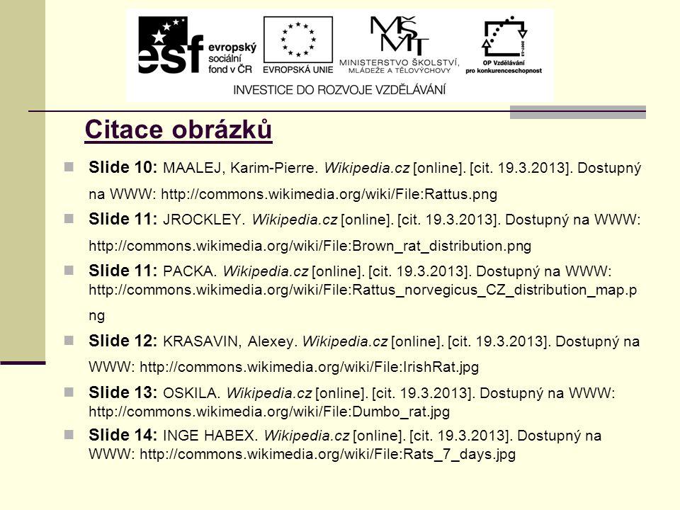 Citace obrázků Slide 10: MAALEJ, Karim-Pierre. Wikipedia.cz [online].