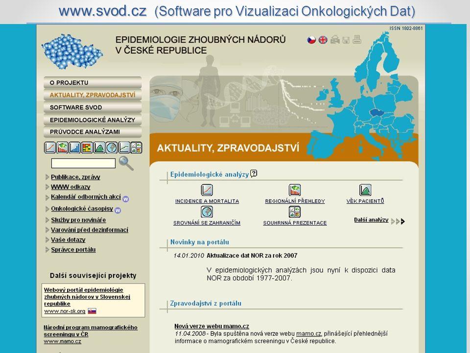 www.svod.cz (Software pro Vizualizaci Onkologických Dat) 8