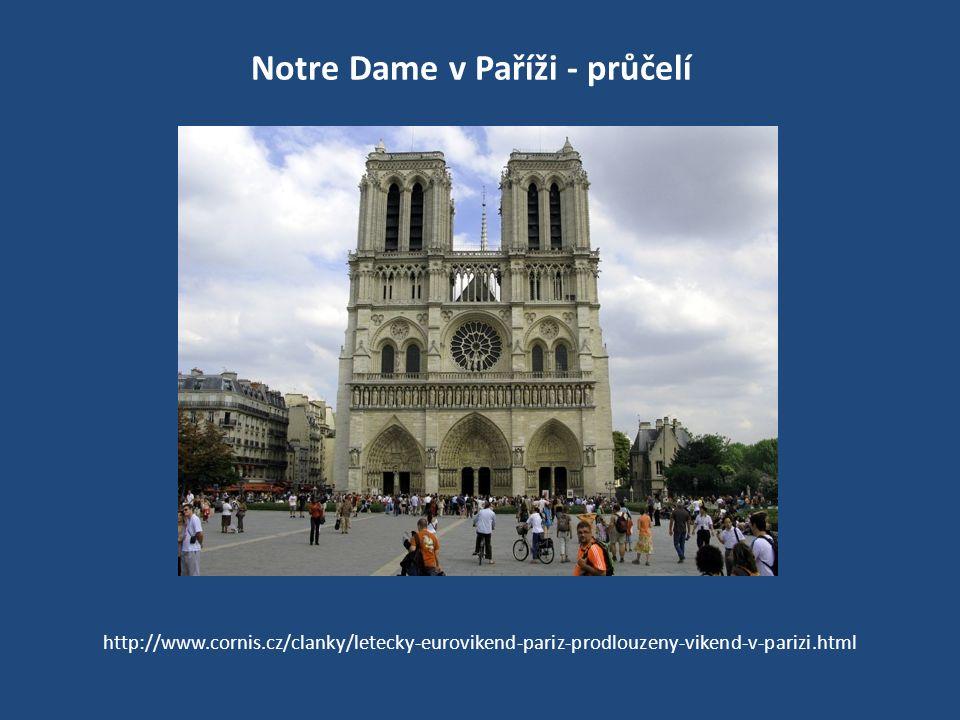 Notre Dame v Paříži - průčelí http://www.cornis.cz/clanky/letecky-eurovikend-pariz-prodlouzeny-vikend-v-parizi.html