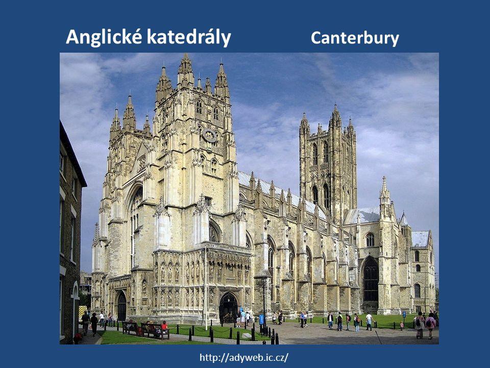 Anglické katedrály Canterbury http://adyweb.ic.cz/