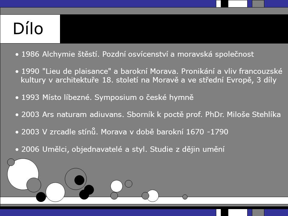 Dílo 2007 Školy dějin umění.Metodologie dějin umění 1 2009 Orbis artium.