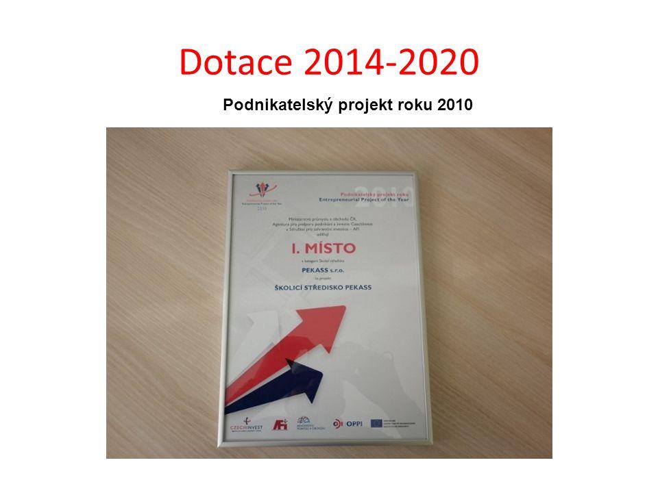 Dotace 2014-2020 Podnikatelský projekt roku 2010