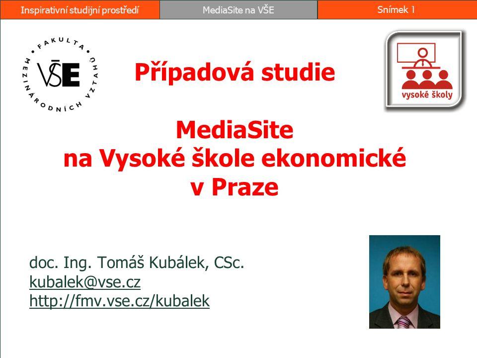 Obsah 1.Projekt využití MediaSite 2008 Projekt využití MediaSite 2008 2.