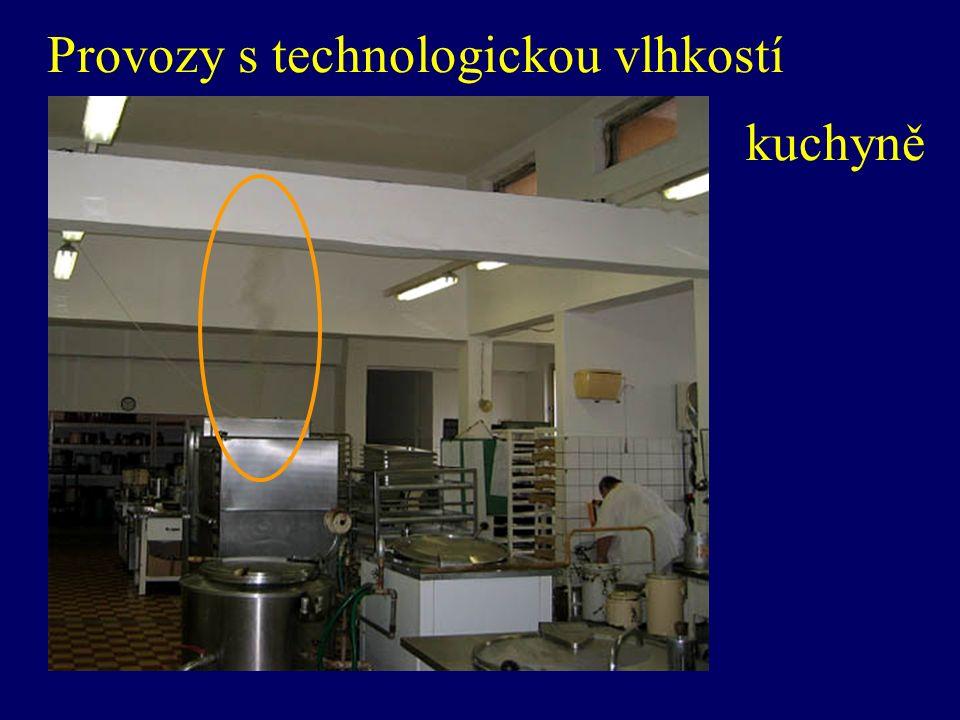 Provozy s technologickou vlhkostí kuchyně