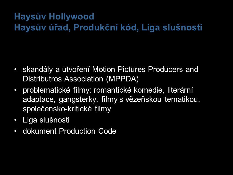 Haysův Hollywood Haysův úřad, Produkční kód, Liga slušnosti skandály a utvoření Motion Pictures Producers and Distributros Association (MPPDA) problem