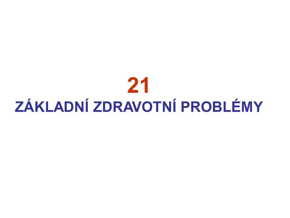 21 ZÁKLADNÍ ZDRAVOTNÍ PROBLÉMY
