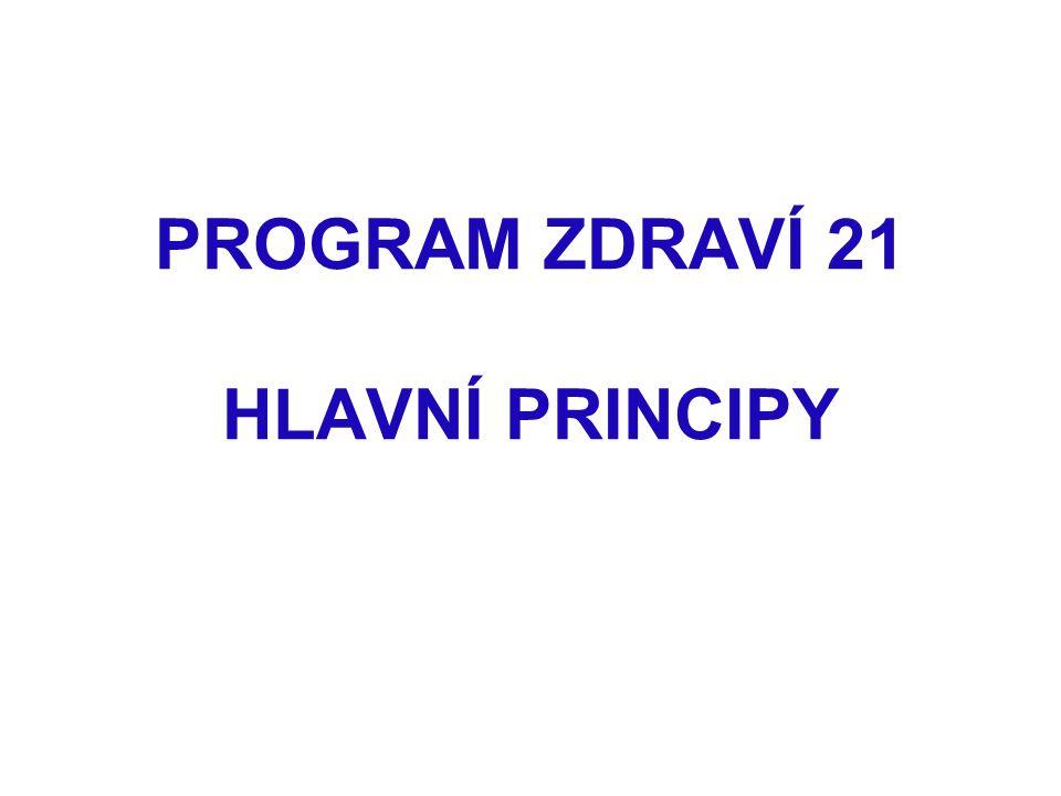 PROGRAM ZDRAVÍ 21 HLAVNÍ PRINCIPY
