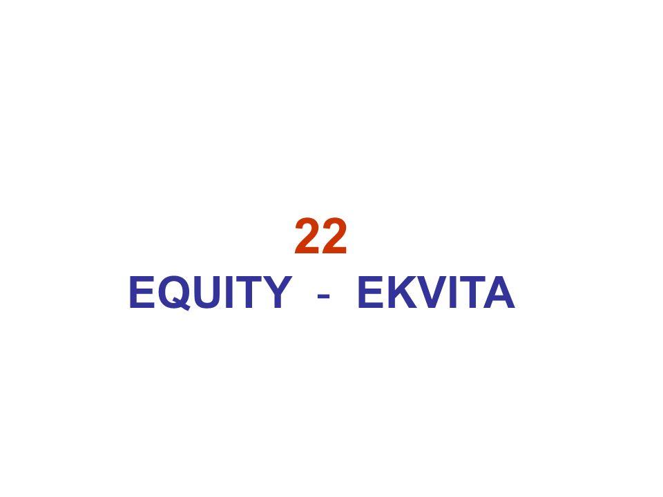 22 EQUITY - EKVITA