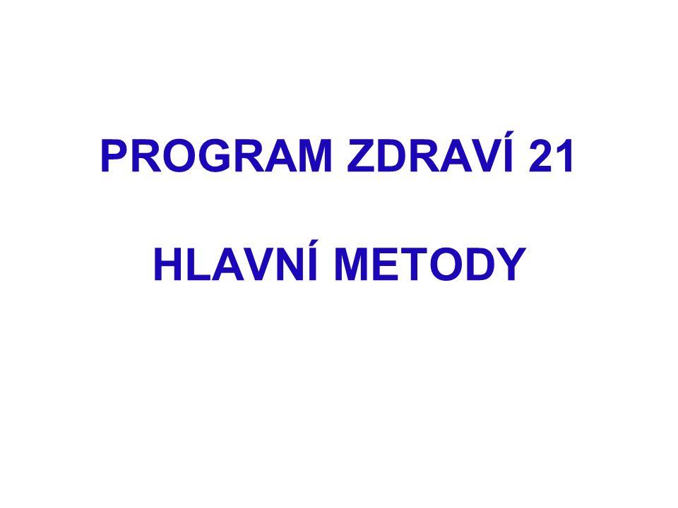 PROGRAM ZDRAVÍ 21 HLAVNÍ METODY