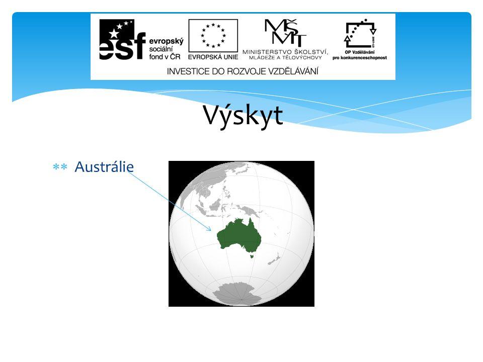  Austrálie Výskyt 