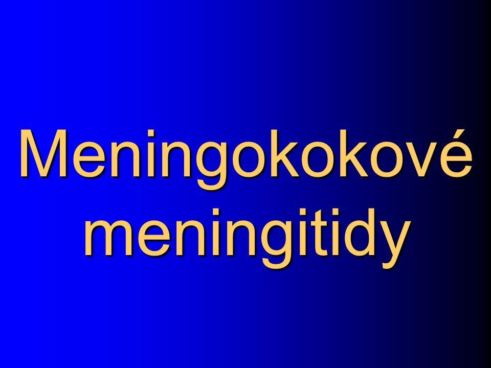 Meningokokové meningitidy