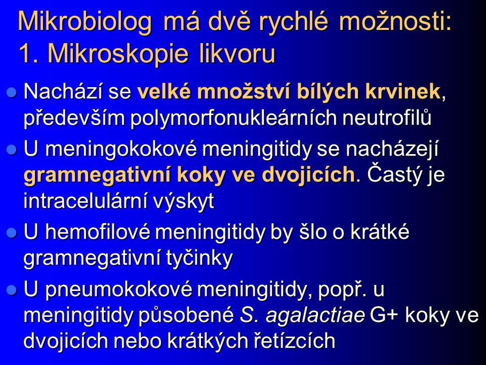 Mikrobiolog má dvě rychlé možnosti: 1.