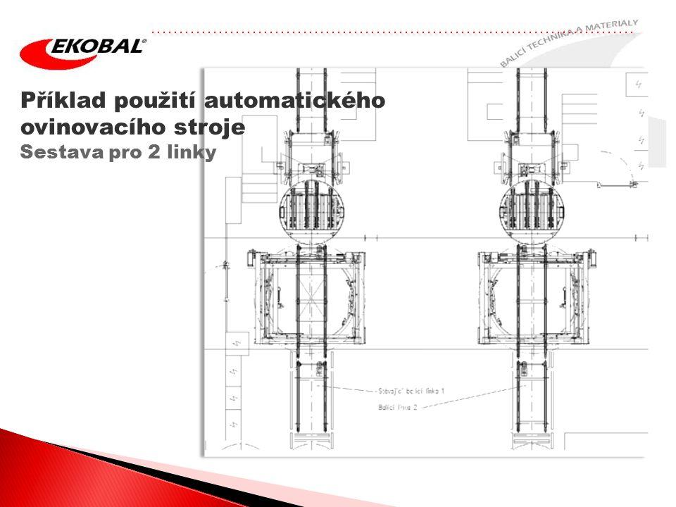 Příklad použití automatického ovinovacího stroje Sestava pro 2 linky