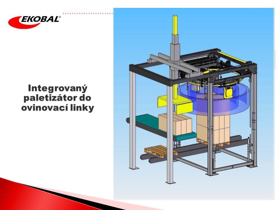 Integrovaný paletizátor do ovinovací linky