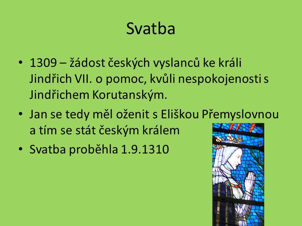 Svatba 1309 – žádost českých vyslanců ke králi Jindřich VII.