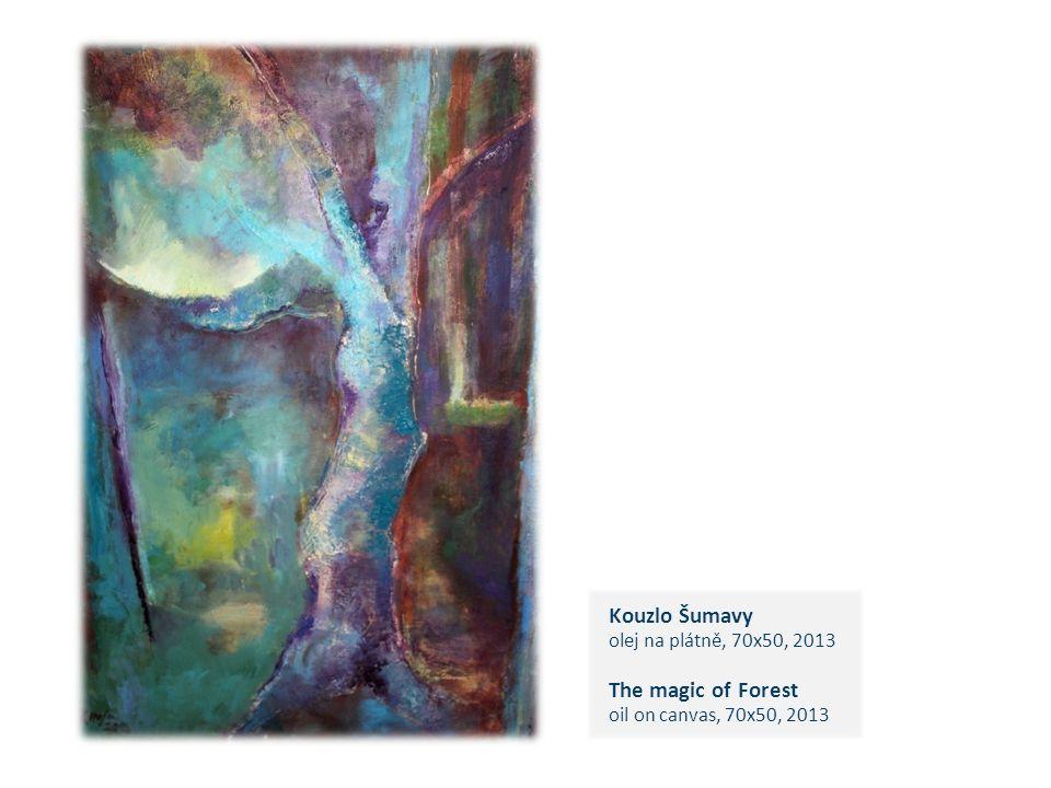 Kouzlo Šumavy olej na plátně, 70x50, 2013 The magic of Forest oil on canvas, 70x50, 2013 c