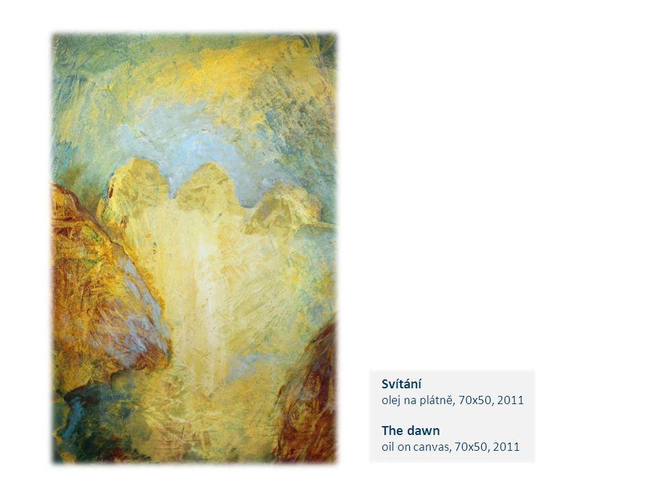 Svítání olej na plátně, 70x50, 2011 The dawn oil on canvas, 70x50, 2011 c