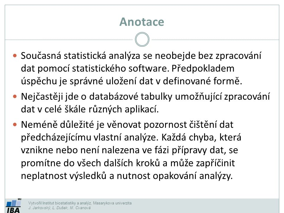 Kontingenční tabulka II.Zdroj dat (kromě Excelu i např.