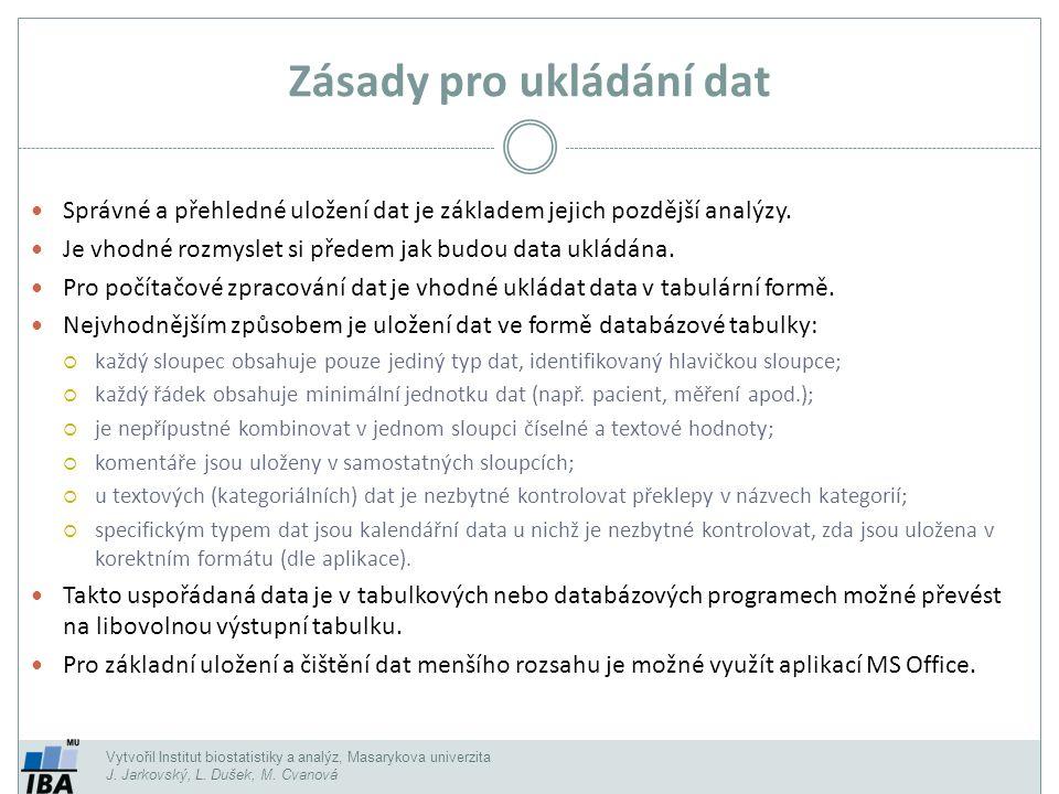 Zdroje dat Excelu Načtou se veškerá data v tabulce, často včetně balastu.